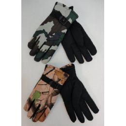 24 of Men's Camo Ski Gloves