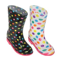 24 of Girl's Rain Boot Assorted 2 Styles