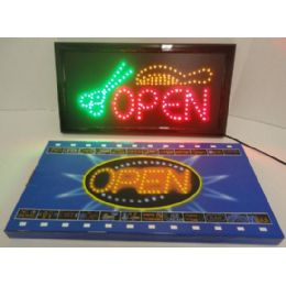 4 of Light Up SigN- Open [scissors & Comb]