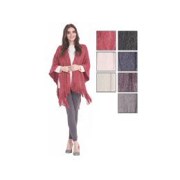 24 of Womens Fashion Assorted Color Ponchos