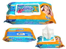 24 of 80 Count Baby Wipes With Rect. Flip Top Lid