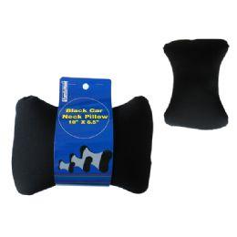 "48 of Car Pillow Black 10x6.5"" H"
