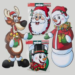 72 of Cutout Jointed 36in Paper 4asst Christmas Icons Each In Pb/header