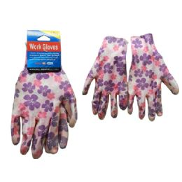 144 of Working Gloves 1pr W/printed