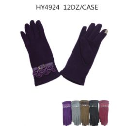 36 of Ladies Touch Screen Winter Gloves Assorted Color