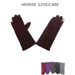36 of Ladies Winter Touch Screen Gloves Assorted Color