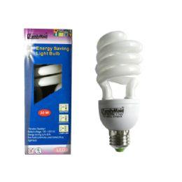 96 of 30 Watt Energy Saving Spiral Lightbulb