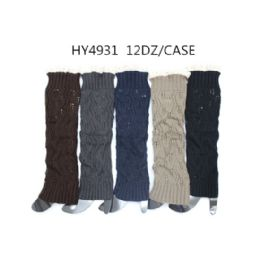 48 of Woman's Long Winter Leg Warmer Assorted Color