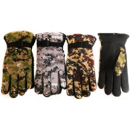 24 of Winter Camo Ski Glove With Inside Lining And AntI-Slip Grip