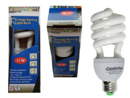96 of 11 Watt Energy Saving Spiral Lightbulb