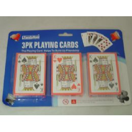 96 of 3 Pack Playing Card W/blister Card