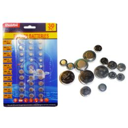 144 of 30pc Assorted Button Batteries