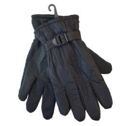 36 of Winter Men Ski Gloves Black With Adjustable Strap