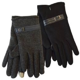 24 of Winter Ladies Sensitive Touch Gloves With Buckle
