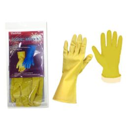 144 of Glove Rubber Large Yellow