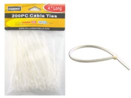 96 of 200pc White Cable Ties