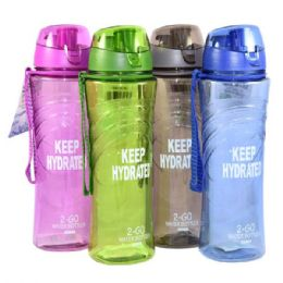 24 of Water Bottle With Filter 22oz W/ Top Asst Colors