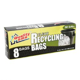 48 of 8 Count Garbage Bag Box Clear Recycle