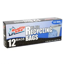48 of 12 Count Garbage Bag Box Clear Recycle