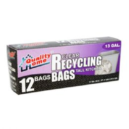 48 of Garbage Bag Box Blue Recycle 13g 12ct