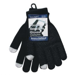 96 of Winter Black Dotted Texting Glove