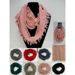 24 of Fringe/loose Knit Knitted Infinity Scarf