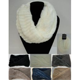24 of Plush/knit Knitted Infinity Scarf