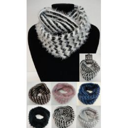 24 of Shaggy Chevron Knitted Infinity Scarf