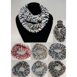 24 of Zebra Print Knitted Infinity Scarf