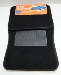 6 of 4 Piece Black Car Mat