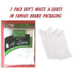 48 of Fruit LooM-HaneS-GildaN-Boy 3pk White A-Shirts In Famous Brand pk