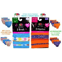 72 of Fruit Of The Loom 3 Pack Mix Styles Girls Panties