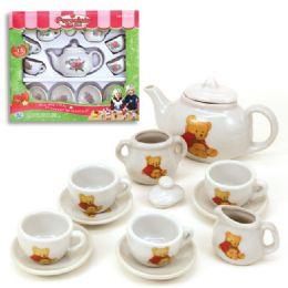 12 of 13pc Porcelain Tea Set
