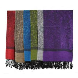 60 of Pashmina Scarves In Assorted Colors