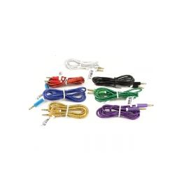 300 of Plastic Wrapped Auxillary Cord In Assorted Colors