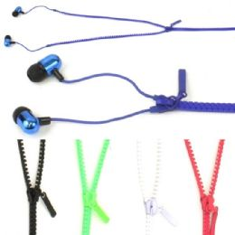 50 of Zipper Ear Buds In Assorted Colors.