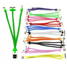 """48 of 3 In 1 Cable 8""""- Includes Universal (noN-Apple) Cable, I-4 Cable And I-5 / I-6 Cable (10 Colors)"""