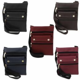 120 of Mid Size Cross Body Bag In Assorted Solid Color Prints