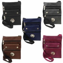 120 of Mid Size Cross Body Bag Featuring A Tree Logo In Assorted Prints & Colors