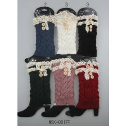 24 of Knitted Boot Topper Lace Top With Buttons
