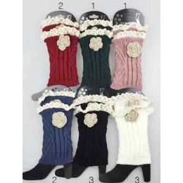 24 of Knitted Boot Topper Lace Top With Lace Flower