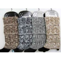 24 of MultI-Color Cable Knitted Boot Toppers Leg Warmers Ast
