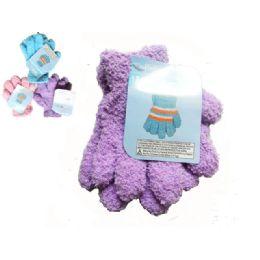 144 of Gloves Fuzzy 1pr Kid 18g Strip Children