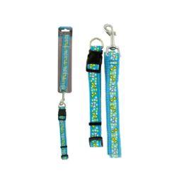 36 of Bone Print Dog Leash & Adjustable Collar