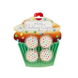 72 of Mini Polka Dot Print Baking Cups