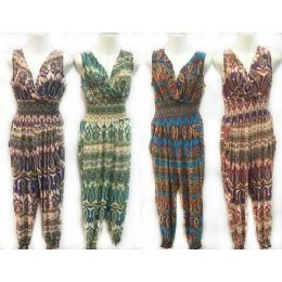 24 of Assorted Tribal Print Summer Romper Jumper Suits