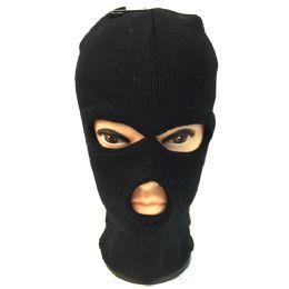 60 of Unisex Black Ski Hat/mask One Size Fits All