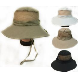 36 of Solid Color Fishing Hat With Adjustable Straps Assorted Colors