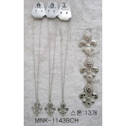 120 of Fleur De Lis Necklace Earring Set