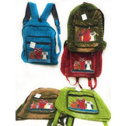 10 of Solid Color Three Owl Tie Dye Cotton Handmade Backpacks